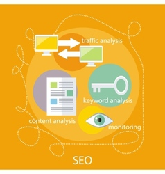 SEO Optimization Concept vector image vector image