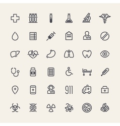 Set of 36 Medical Icons vector image