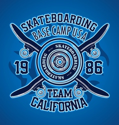 SKATER BASE CAMP vector image vector image