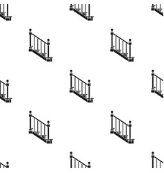 Stairs icon in black style isolated on white vector