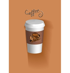 To go coffee cup vector