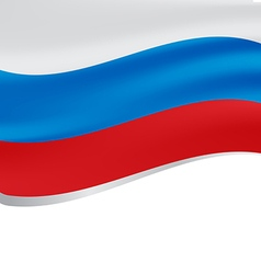 Waving flag of Russia isolated on white vector image vector image