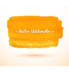 Yellow watercolor banner vector image vector image
