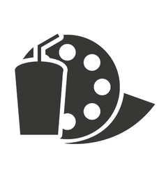Reel tape with cinema icon vector