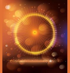 Abstract Orange Purple Neon Background vector image