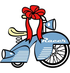 Young childs tricycle gift vector