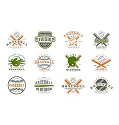 Badges set of baseball team vector