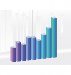 background to the growth charts vector image