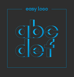 Letter a b c d e f logo alphabet icon set vector