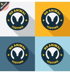 No animals testing sign icon not tested symbol vector
