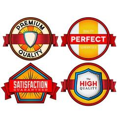 Colorful vintage labels vector image