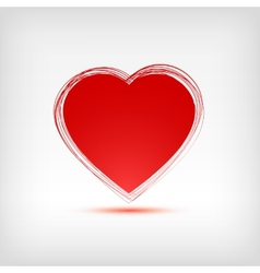 Red heart shape on white background vector image