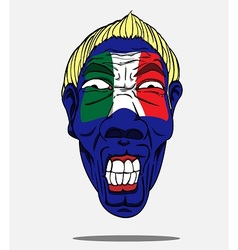 Football fan from italy vector