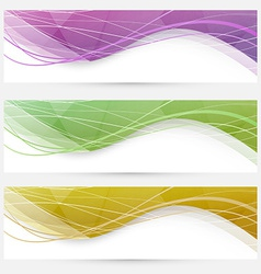 Abstract crystal wave speed line website header vector image
