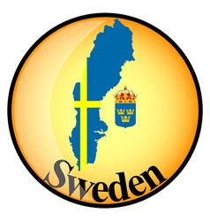 Button sweden vector
