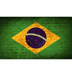 Flags brazil with dirty paper texture vector