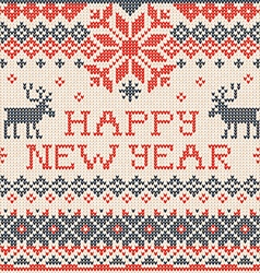 Happy new year scandinavian or russian style vector