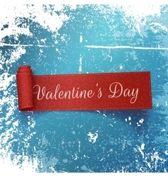 Valentines day realistic red curved ribbon vector