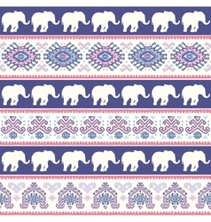 Vintage indian elephant vector