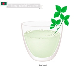 Borhani or bangladeshi cpicy salted yogurt drink vector