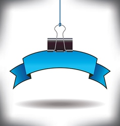 Banner binder clip vector