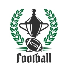 Football championship icon with trophy and ball vector