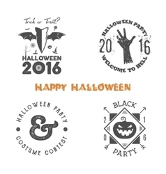 Halloween 2016 party label templates with scary vector
