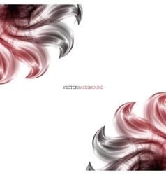 Abstract background with red flower vector image