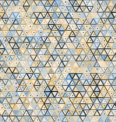 Abstract triangular seamless pattern vector image