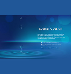 Advertising poster of a moisturizing cosmetic vector