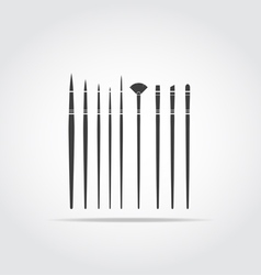 Art Brush Black Icon vector image vector image