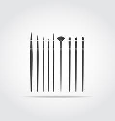 Art brush black icon vector