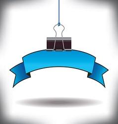 Banner Binder clip vector image