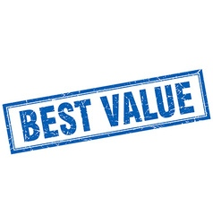 Best value blue square grunge stamp on white vector