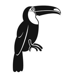 Brazilian toucan icon simple style vector