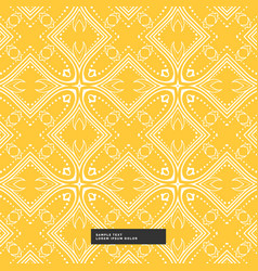 Bright yellow abstract pattern background vector