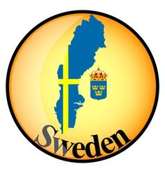 button Sweden vector image vector image