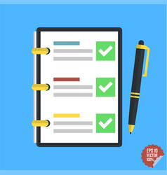 Checklist complete tasks to-do list survey vector
