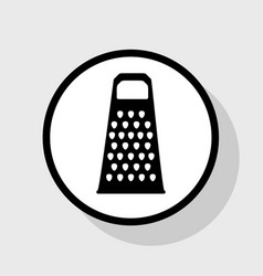 Cheese grater sign flat black icon in vector