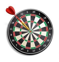 Dart Board Realistic vector image