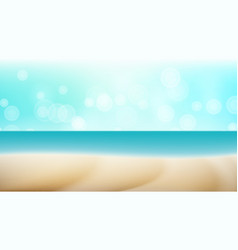 Empty tropical beach background seascape vector