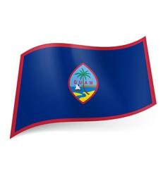 Flag of guam vector