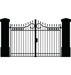 Gate silhouette vector