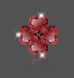 Heart ruby vector