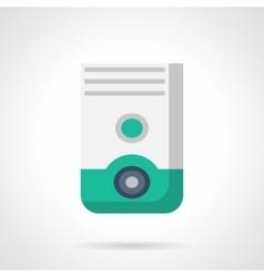 Household dehumidifier flat color icon vector