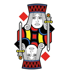Jack of diamonds no card vector
