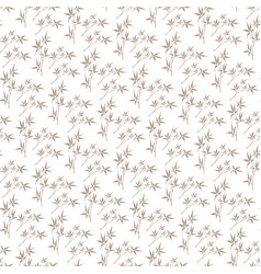 Korean traditional beige bamboo leaves pattern vector