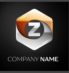 Letter z logo symbol in the colorful hexagonal on vector