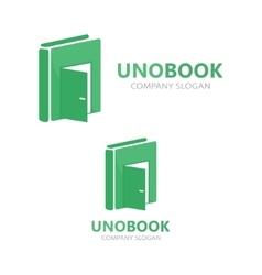logo combination of a book and door vector image vector image