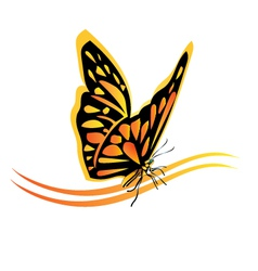 Monarch butterfly logo vector image vector image